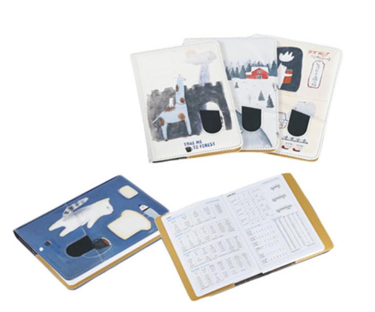 Customed  printed PU notebook