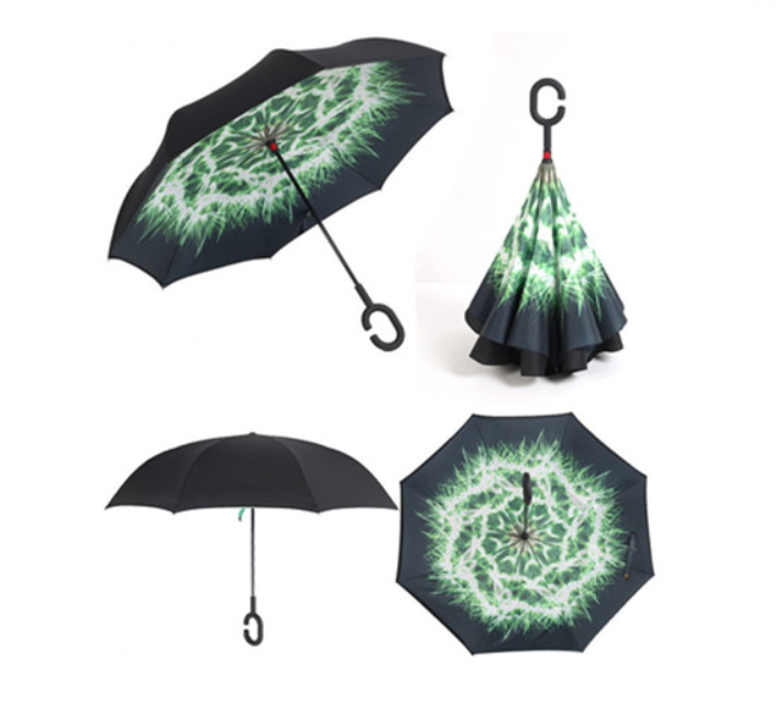 sublimation waterproof reverse inverted umbrella