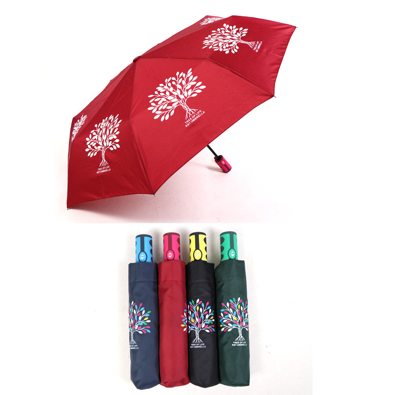 Printed auto folding umbrella